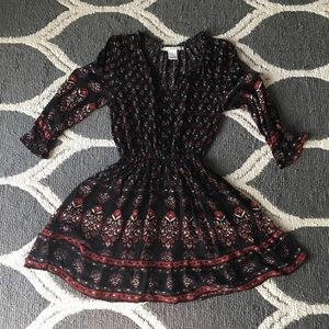American Rag Black and Red Dress